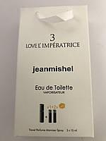 Женский цветочный аромат jeanmishel Love 3 L'Imperatrice 45ml в сумочке