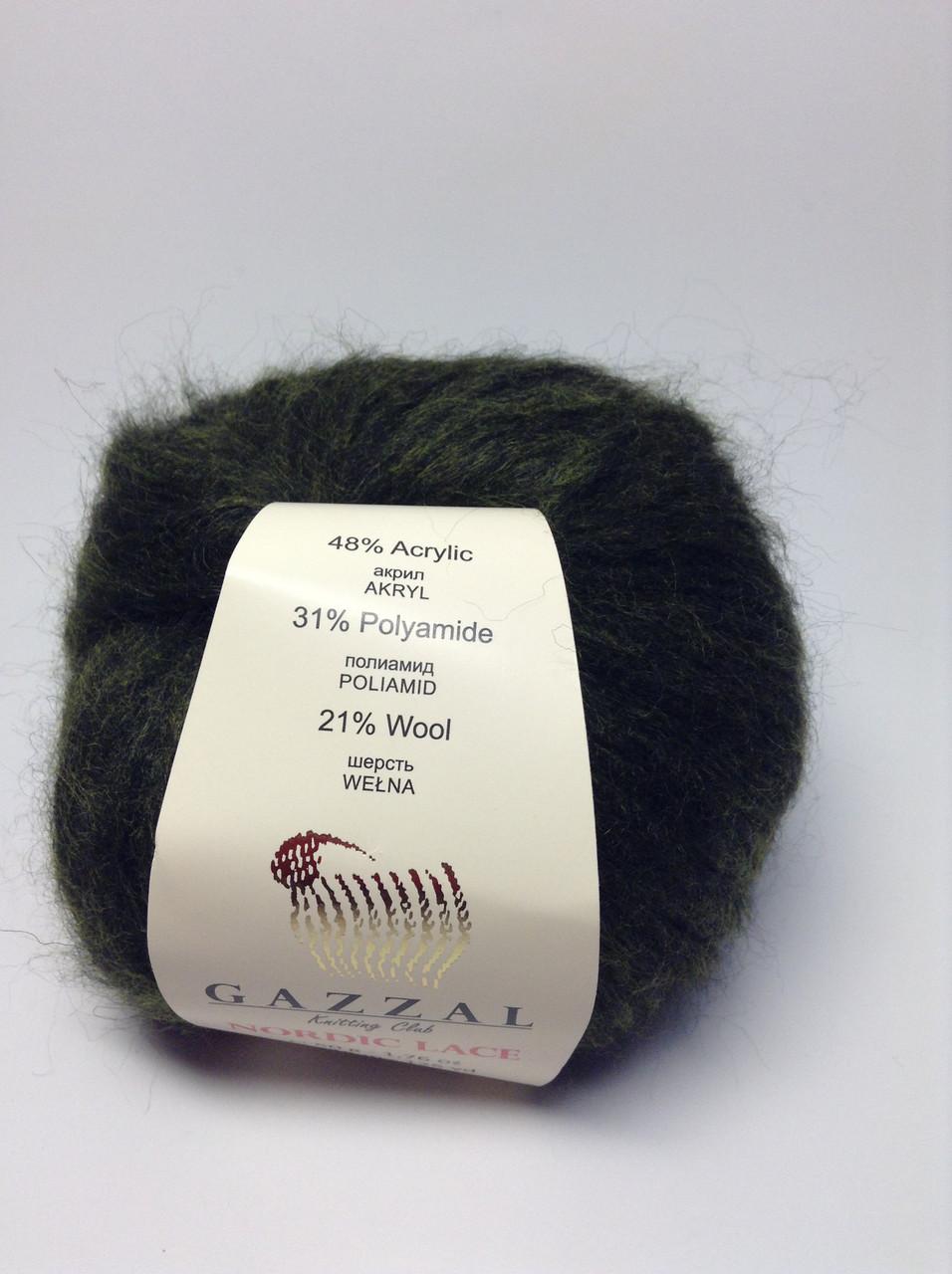 Пряжа nordic lace Gazzal (21% - шерсть)