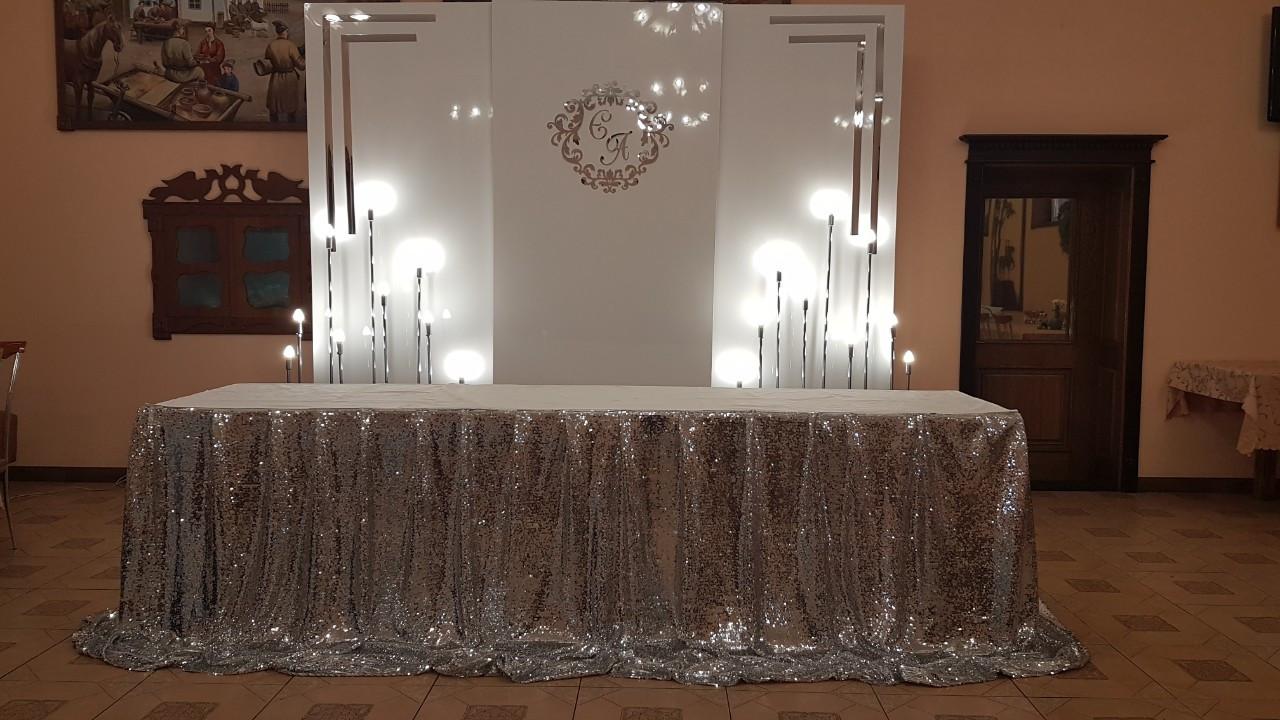 Ширма глянцевая, фотозона на свадьбу, глянцевые панели, ширма, арка