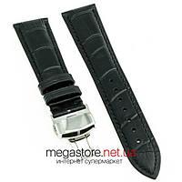 Кожаный ремешок для часов Hightone черный 21 мм с застежкой 18 мм (07967), фото 1