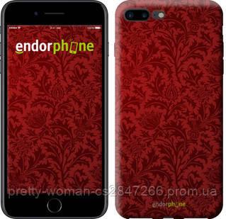 """Чехол на iPhone 7 Plus Чехол цвета бордо """"2659c-337-19414"""""""