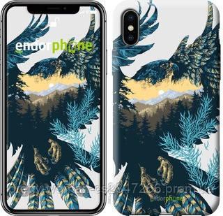 """Чехол на iPhone XS Арт-орел на фоне природы """"3983c-1583-19414"""""""