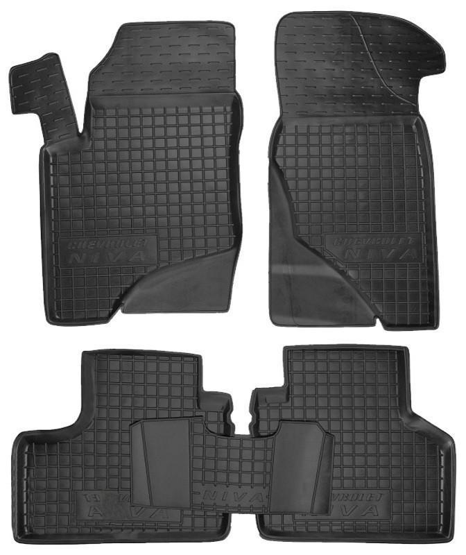 Коврики в салон для Chevrolet Niva черный, кт - 4шт 11132 Avto-Gumm