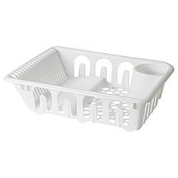 IKEA FLUNDRA (401.769.50) Сушилка посудная, белая