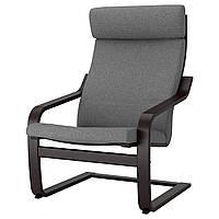 IKEA POANG (792.416.43) Кресло, черный бриз, Lysed ярко-зеленый