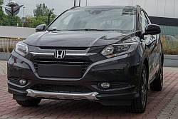 КОМПЛЕКТ ТЮНИНГ НАКЛАДОК НА БАМПЕРА Honda HR-V (ABS) ПЕРЕДНЯЯ+ЗАДНЯЯ 2015-...