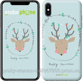"""Чехол на iPhone XS Max Happy Christmas """"4185c-1557-19414"""""""