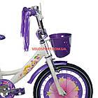Детский велосипед Azimut Girls 16 дюймов бело-фиолетовый, фото 3
