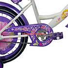 Детский велосипед Azimut Girls 16 дюймов бело-фиолетовый, фото 5