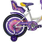Детский велосипед Azimut Girls 16 дюймов бело-фиолетовый, фото 7