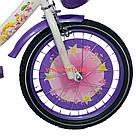 Детский велосипед Azimut Girls 16 дюймов бело-фиолетовый, фото 4