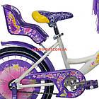 Детский велосипед Azimut Girls 16 дюймов бело-фиолетовый, фото 6
