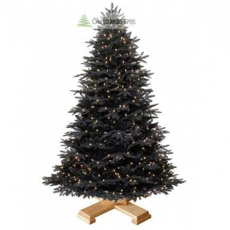 """Елка """"Черная"""" на деревянной подставке 185 + гирлянда в подарок, фото 2"""