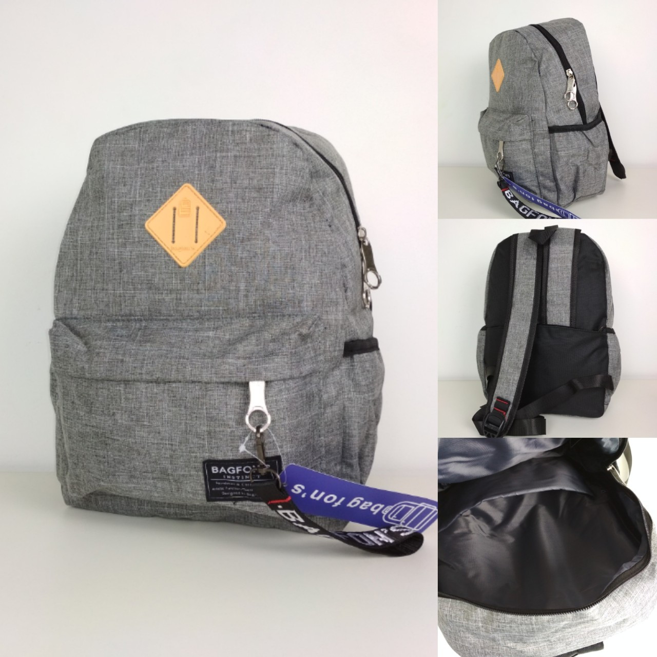 Рюкзак спортивный серого цвета для подростка 36*28*20 см