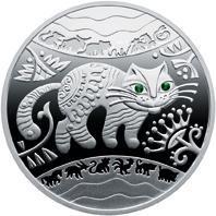 Рік Кота (Кролика, Зайця) Срібна монета 5 гривень срібло 15,55 грам