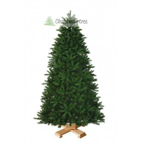 """Ялинка """"Класична"""" на дерев'яній підставці 155 + гірлянда у подарунок, фото 2"""