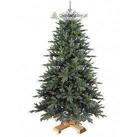 """Ялинка """"Різдвяний звичайна"""" на дерев'яній підставці 155 + гірлянда у подарунок"""