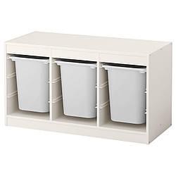 IKEA TROFAST (491.234.05) Шкаф с контейнерами, белый