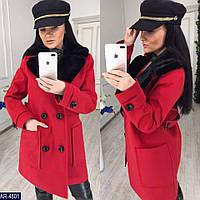 c46acdc4295 Пальто кашемировое пальто на подкладке с съемным мехом