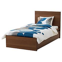 IKEA MALM (891.571.01) Кровать, высокая, 2 контейнера, белый витраж, Luroy
