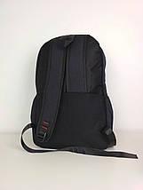 Черный текстильный городской рюкзак для подростка 45*30*18 см, фото 3