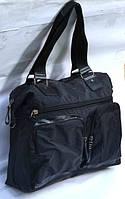 Стильная мужская дорожная сумка EF два кармана