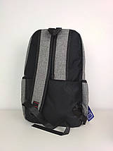 Городской подростковый рюкзак серого цвета 45*30*18 см, фото 3