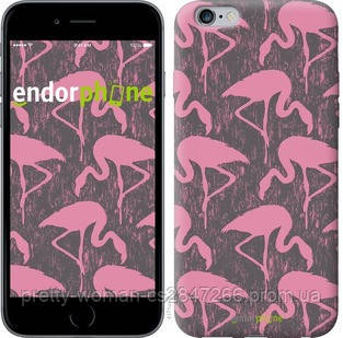 """Чехол на iPhone 6 Plus Vintage-Flamingos """"4171c-48-19414"""""""