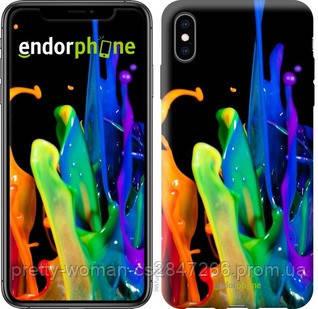 """Чехол на iPhone XS Max брызги краски """"3957c-1557-19414"""""""