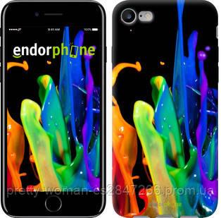 """Чехол на iPhone 8 брызги краски """"3957c-1031-19414"""""""