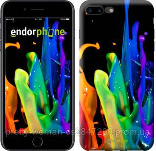 """Чехол на iPhone 7 Plus брызги краски """"3957c-337-19414"""""""