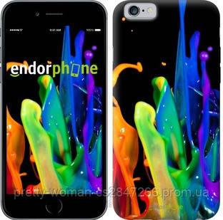 """Чехол на iPhone 6 брызги краски """"3957c-45-19414"""""""