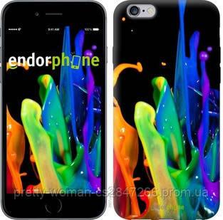 """Чехол на iPhone 6 Plus брызги краски """"3957c-48-19414"""""""