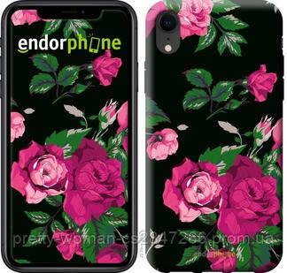 "Чехол на iPhone XR Розы на черном фоне ""2239c-1560-19414"""