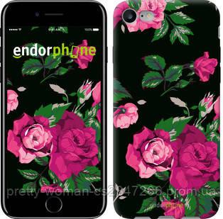 """Чехол на iPhone 7 Розы на черном фоне """"2239c-336-19414"""""""