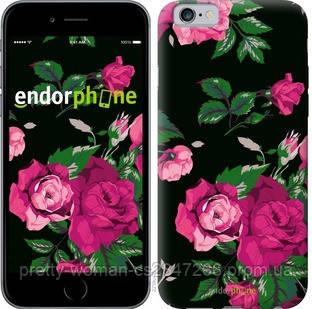 """Чехол на iPhone 6 Розы на черном фоне """"2239c-45-19414"""""""