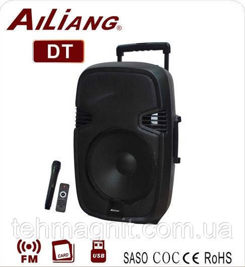 """Комбоусилитель колонка Ailiang AJ 15 AK DT Bluetooth, 15"""" дюймов, 150W, радиомикрофон, пульт"""