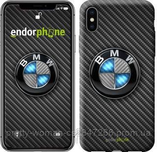 """Чехол на iPhone X BMW. Logo v3 """"3109c-1050-19414"""""""