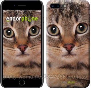 "Чехол на iPhone 8 Plus Полосатый котик ""2978c-1032-19414"""