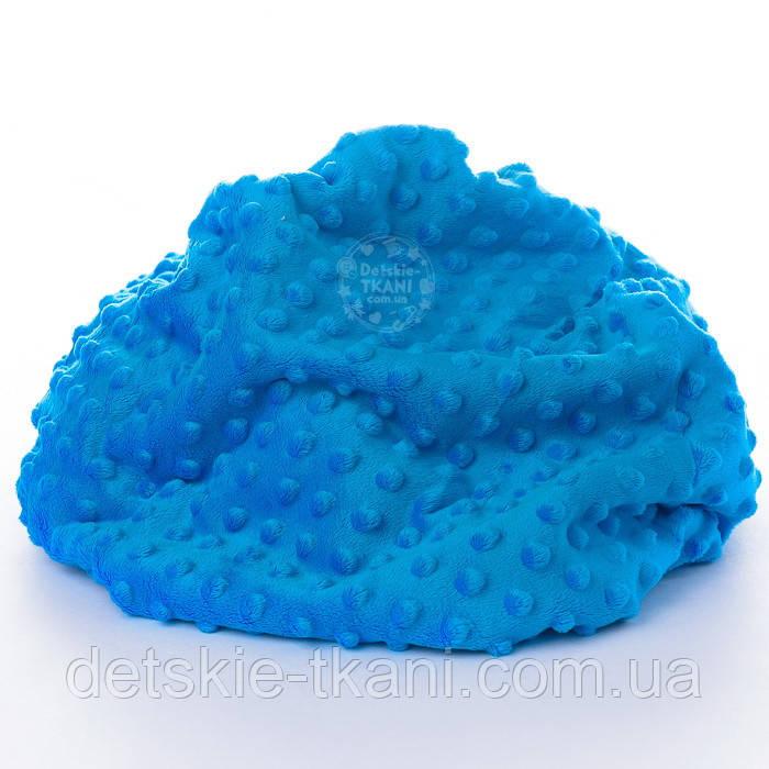 Плюш minky блакитного кольору М-11137