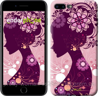 "Чехол на iPhone 7 Plus Силуэт девушки ""2831c-337-19414"""