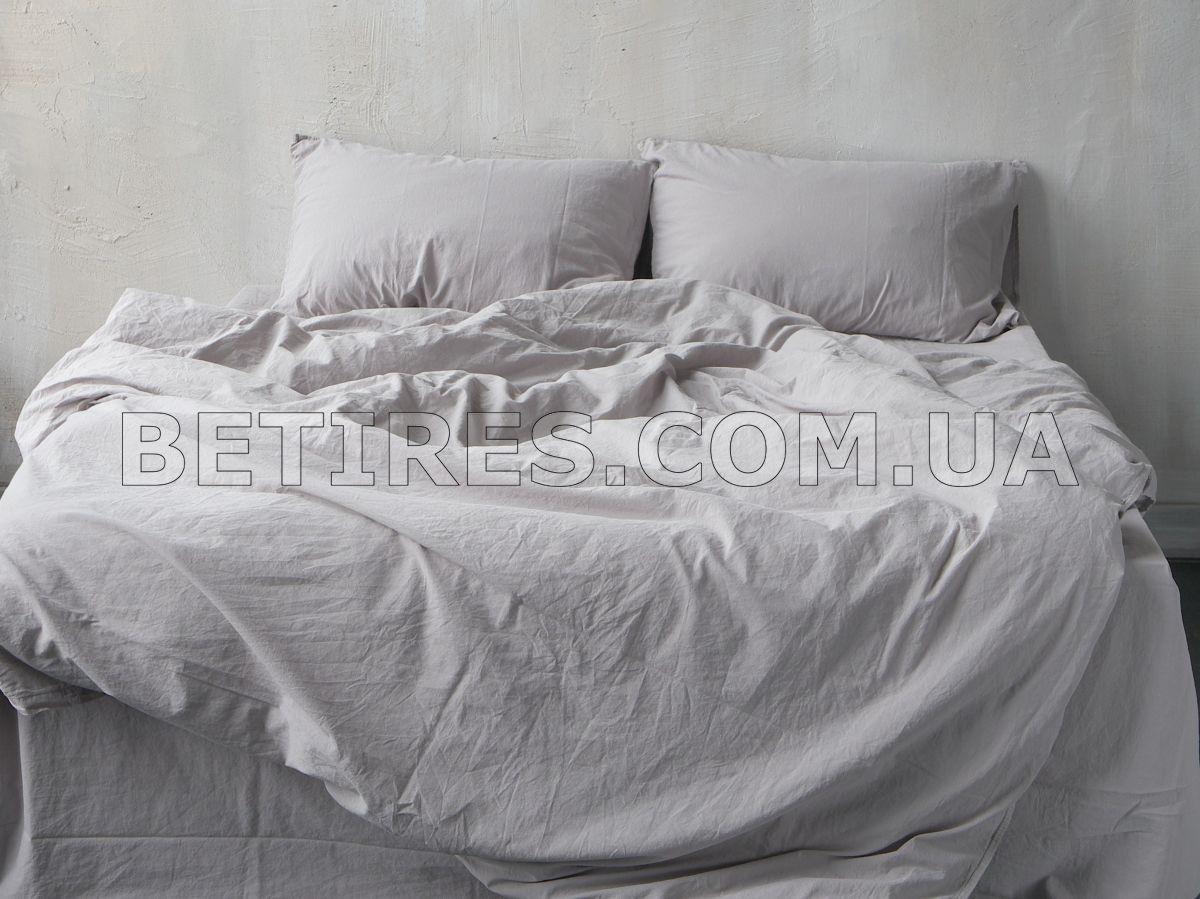 Комплект постільної білизни СІМЕЙНИЙ LIMASSO OPAL GREY STANDART сірий