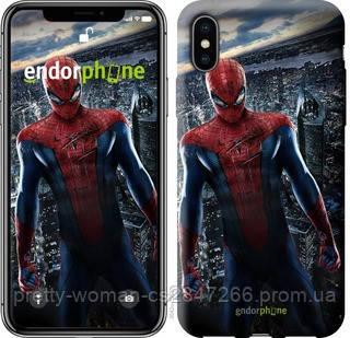 "Чехол на iPhone X Новый Человек-Паук ""3042c-1050-19414"""