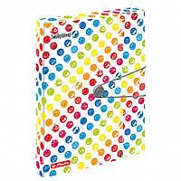Папка-бокс на резинке Herlitz А4 4см Smiley World Rainbow 50002078