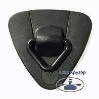 Буксирувальний вузол з кільцем (кільце пластик) для надувних човнів ПВХ - колір чорний, фото 1