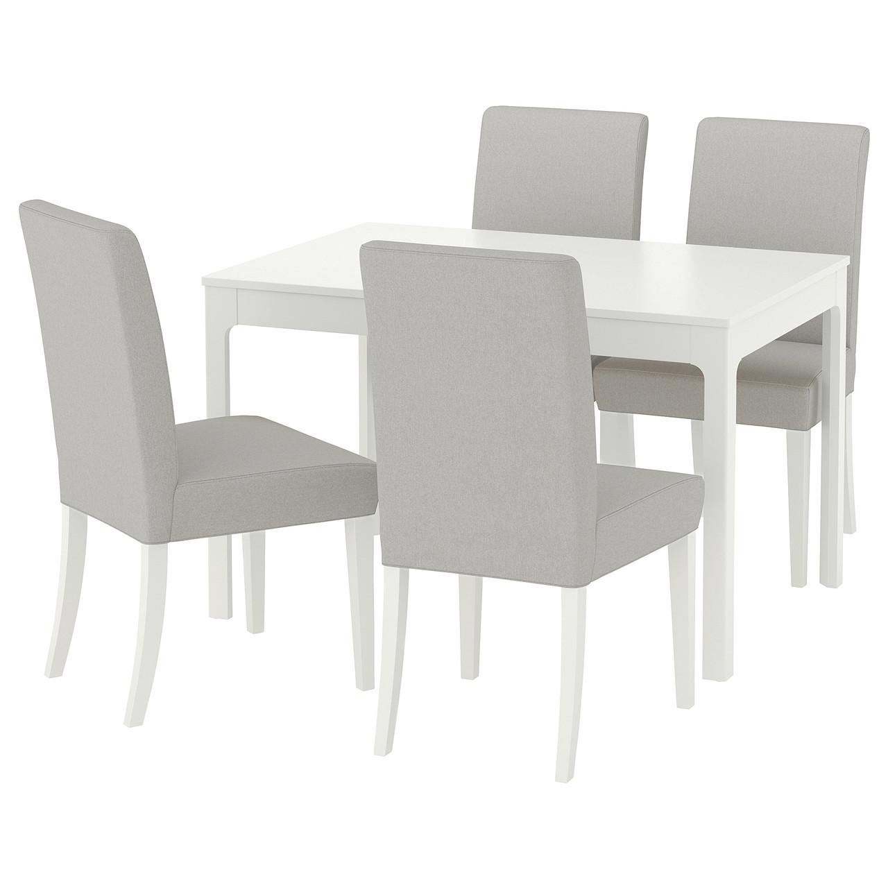 IKEA EKEDALEN / HENRIKSDAL (692.213.39) Стол и 4 стула, Orrsta светло-серый
