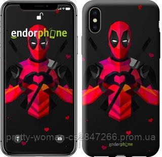 "Чехол на iPhone X deadpool love ""4044c-1050-19414"""