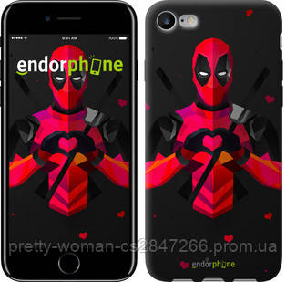 "Чехол на iPhone 7 deadpool love ""4044c-336-19414"""