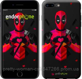 "Чехол на iPhone 7 Plus deadpool love ""4044c-337-19414"""