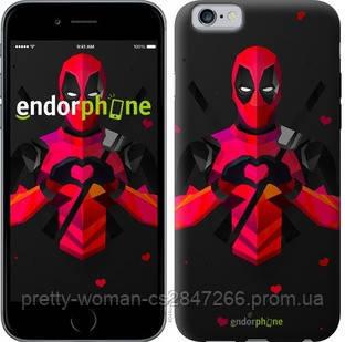 "Чехол на iPhone 6 deadpool love ""4044c-45-19414"""